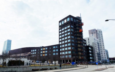 Arena Tower får undertak/innertak monterade av Intermontage