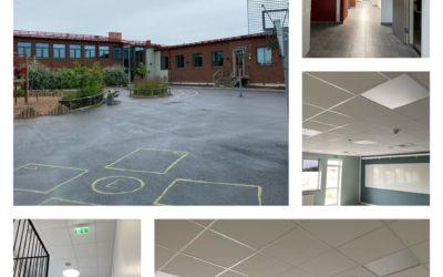 1:a-klass-igt undertak/innertak på Edenryds skola i Bromölla kommun.